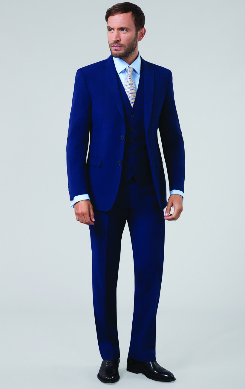 win a suit from Dobell Menswear - blue suit