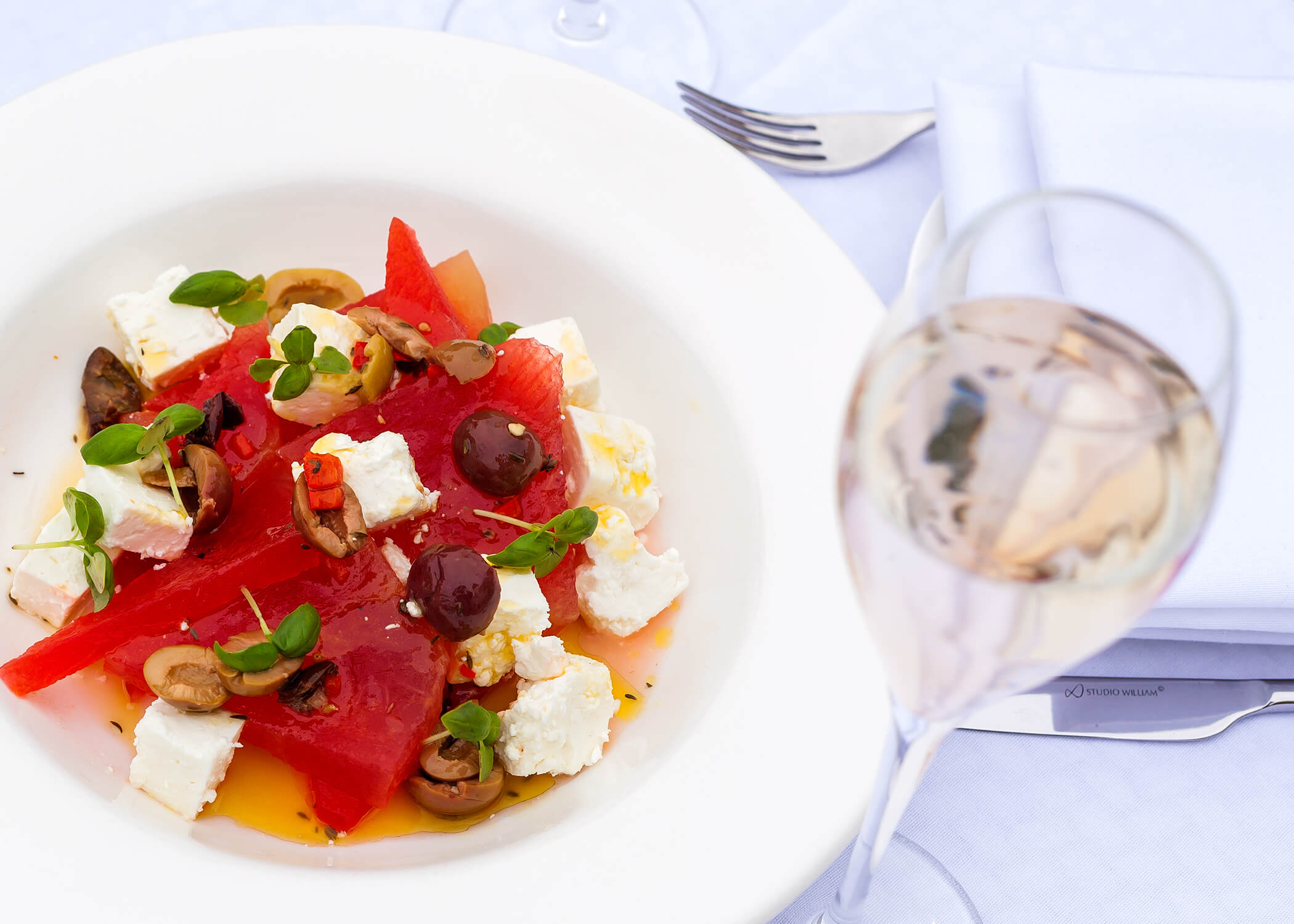 watermelon and feta salad from Sopwell House