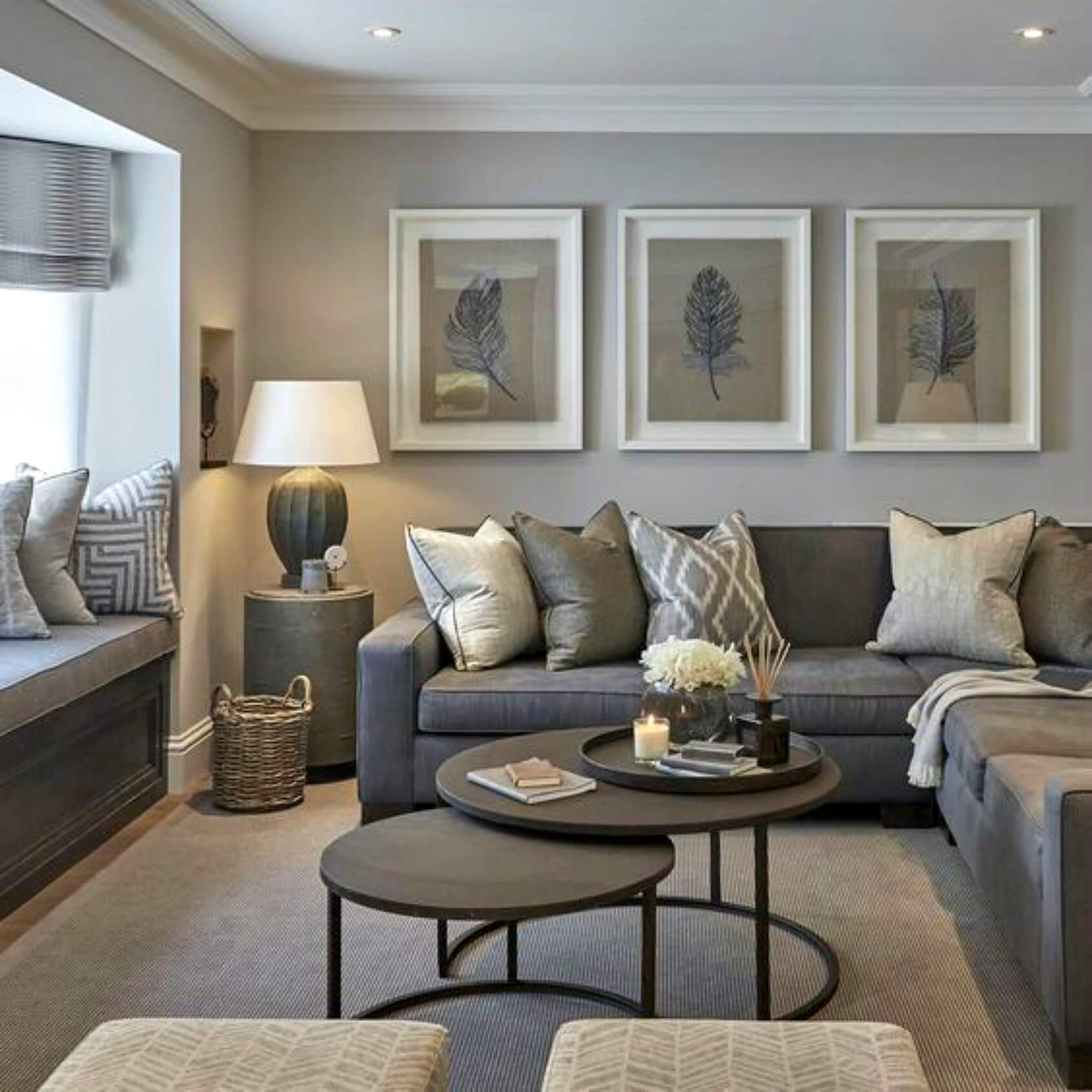 how to present your house for sale - chocolate brown sofa in a brown living room