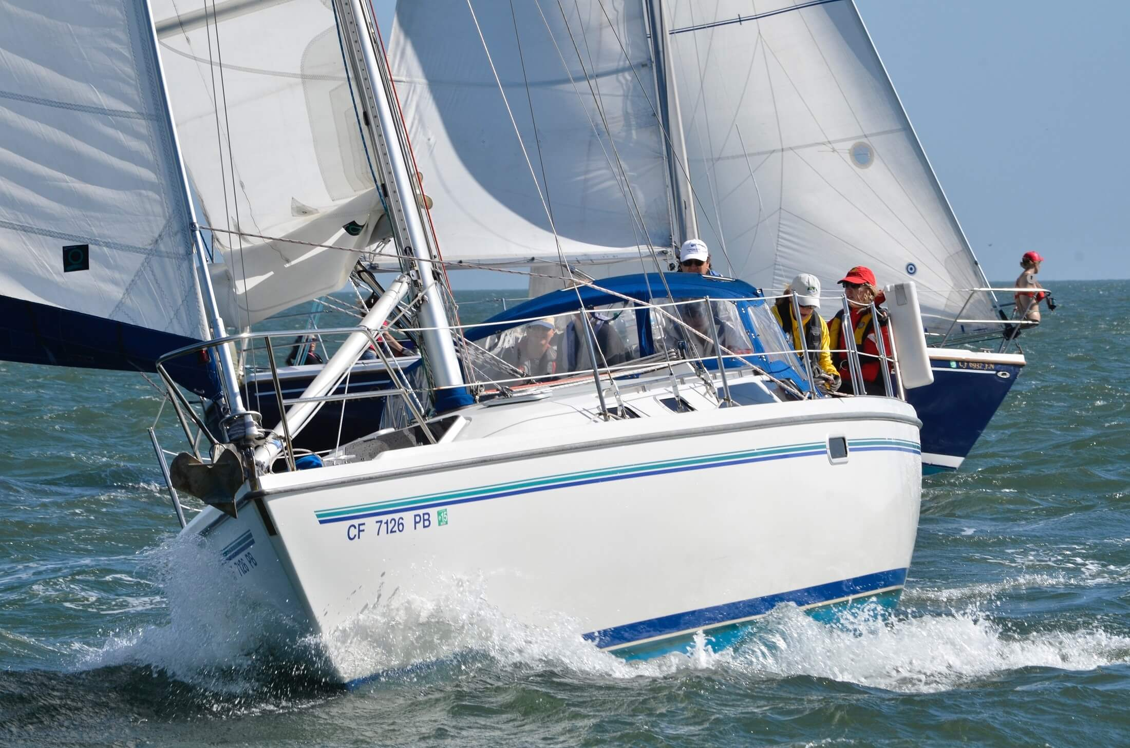 family sailing holiday - yacht on the water
