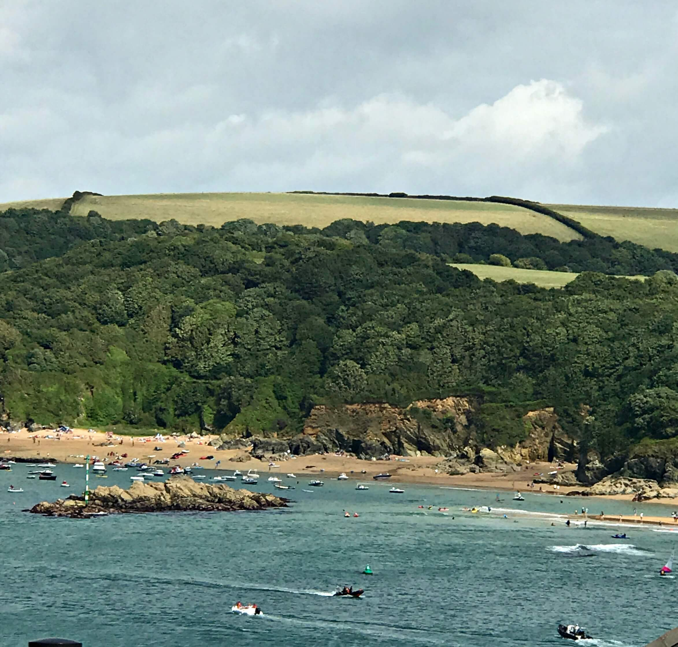 The view on the way up to Overbeck's garden and house in Salcombe