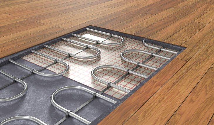 winter home improvements - underfloor heating panels