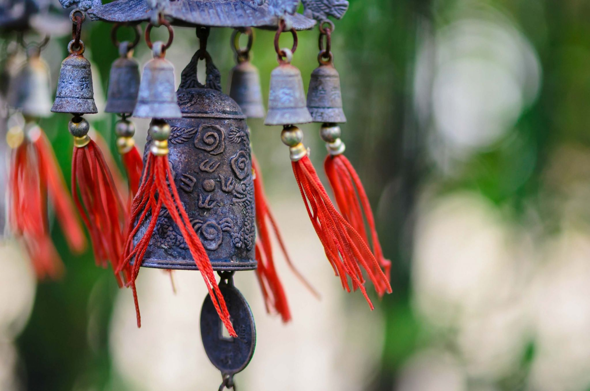 feng shui for health - Chinese bell and coin
