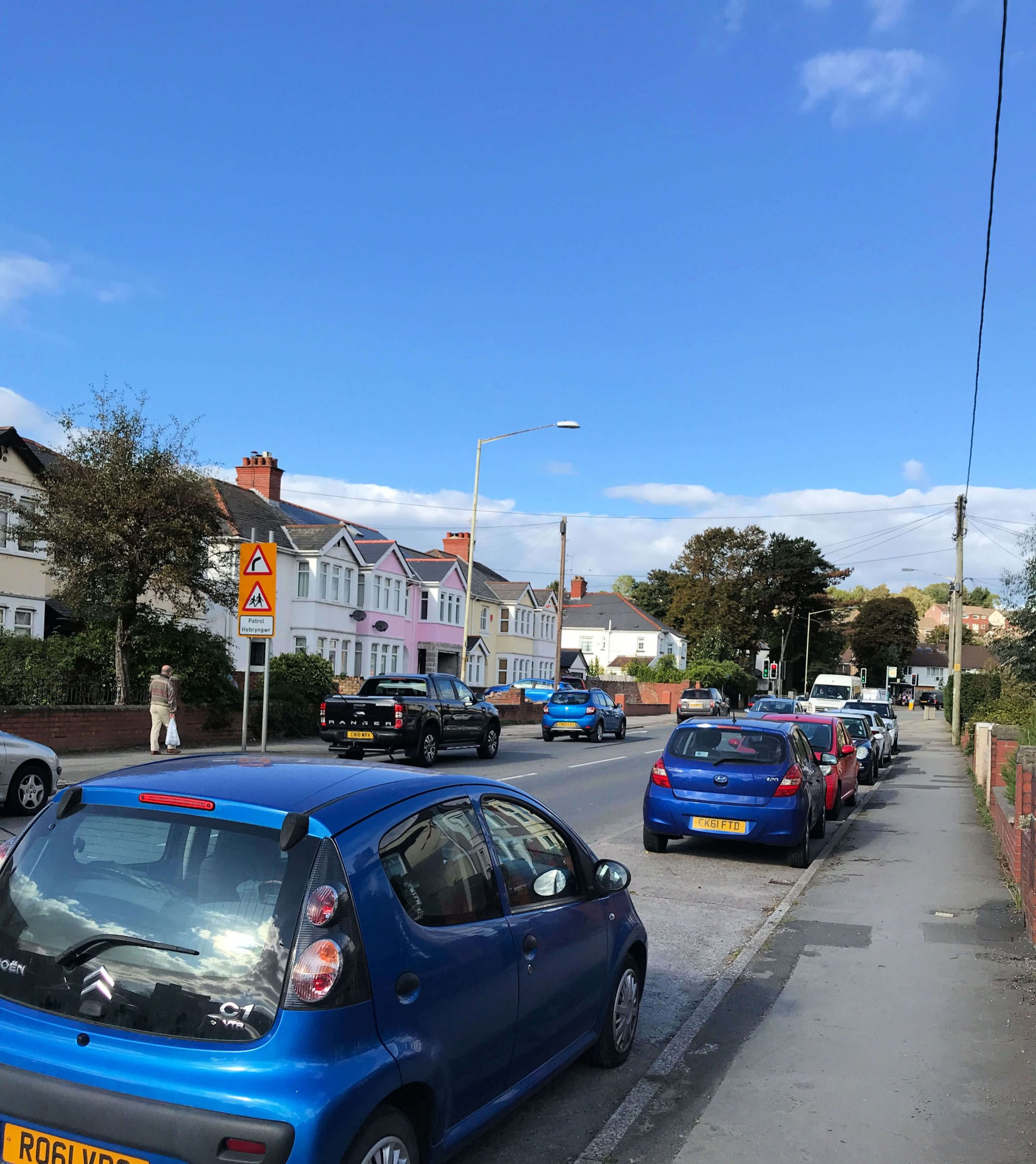 Aviva Drive app - the busy main road through Dinas Powys