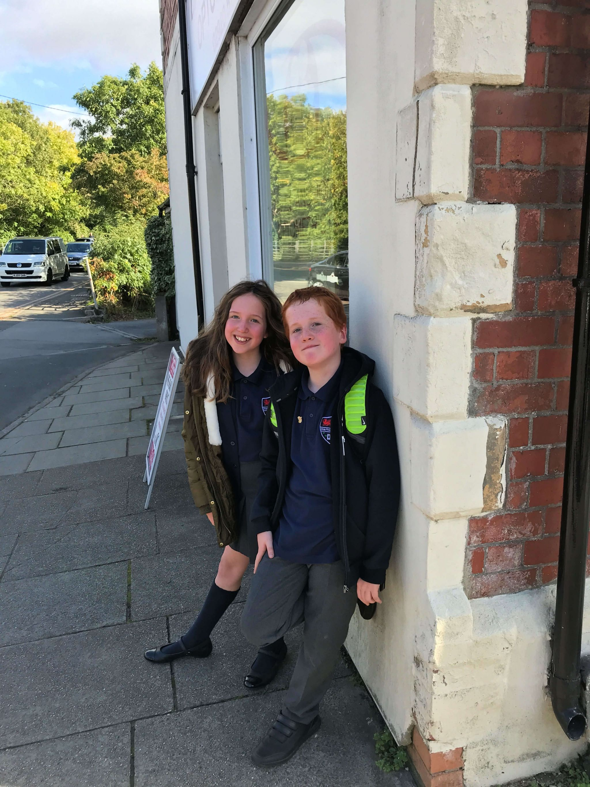 Aviva Drive app - Caitlin and Ieuan on the school run