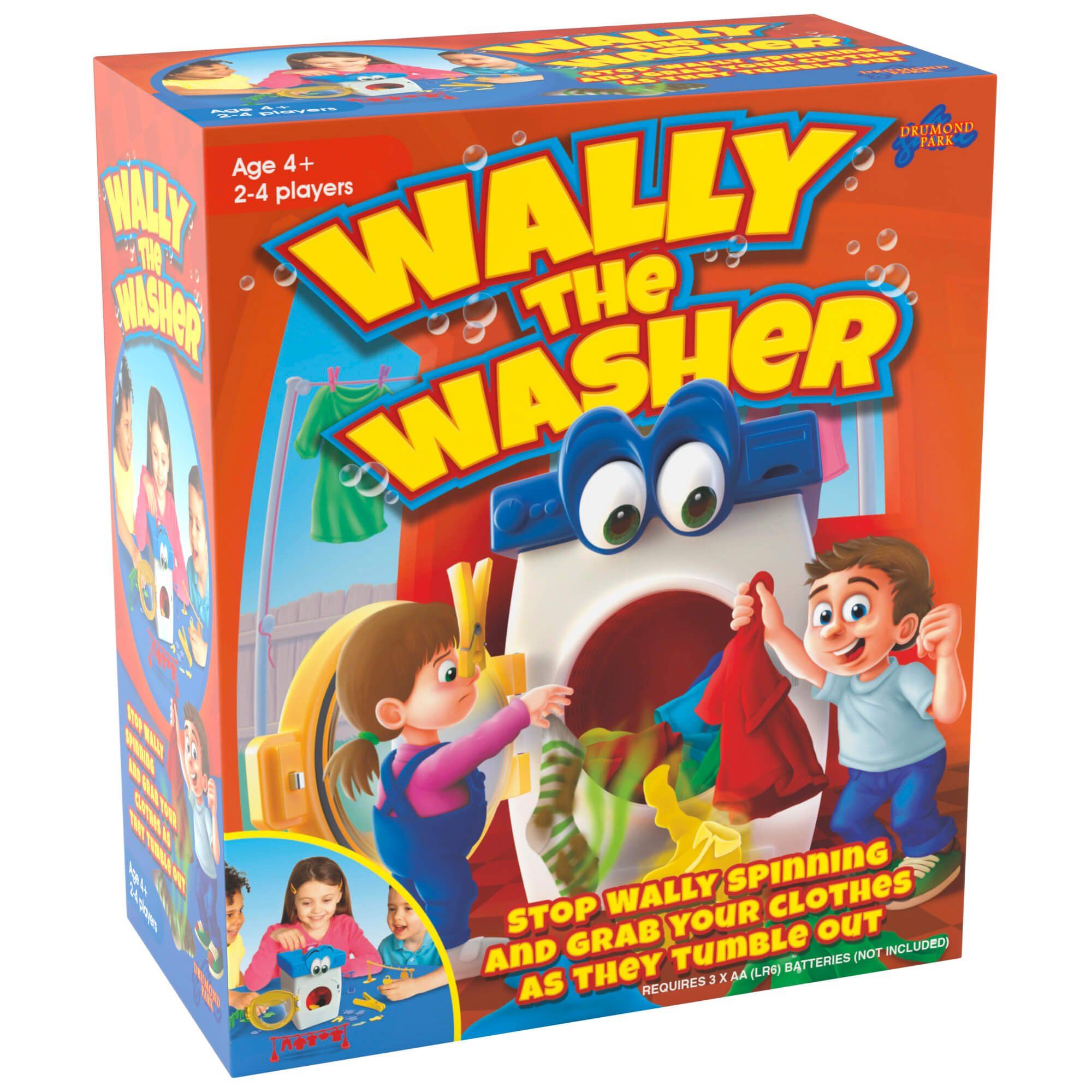 toy washing machine - Wally The Washer Tabletop game box