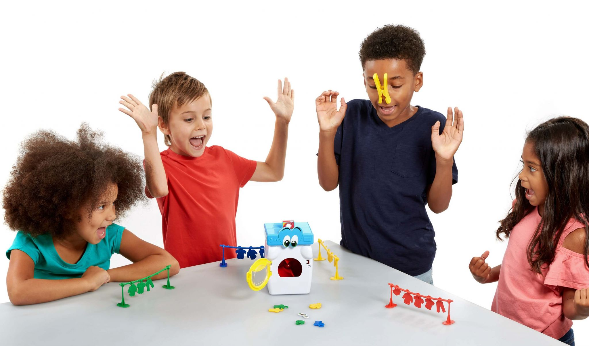 toy washing machine - kids playing Wally The Washer tabletop game