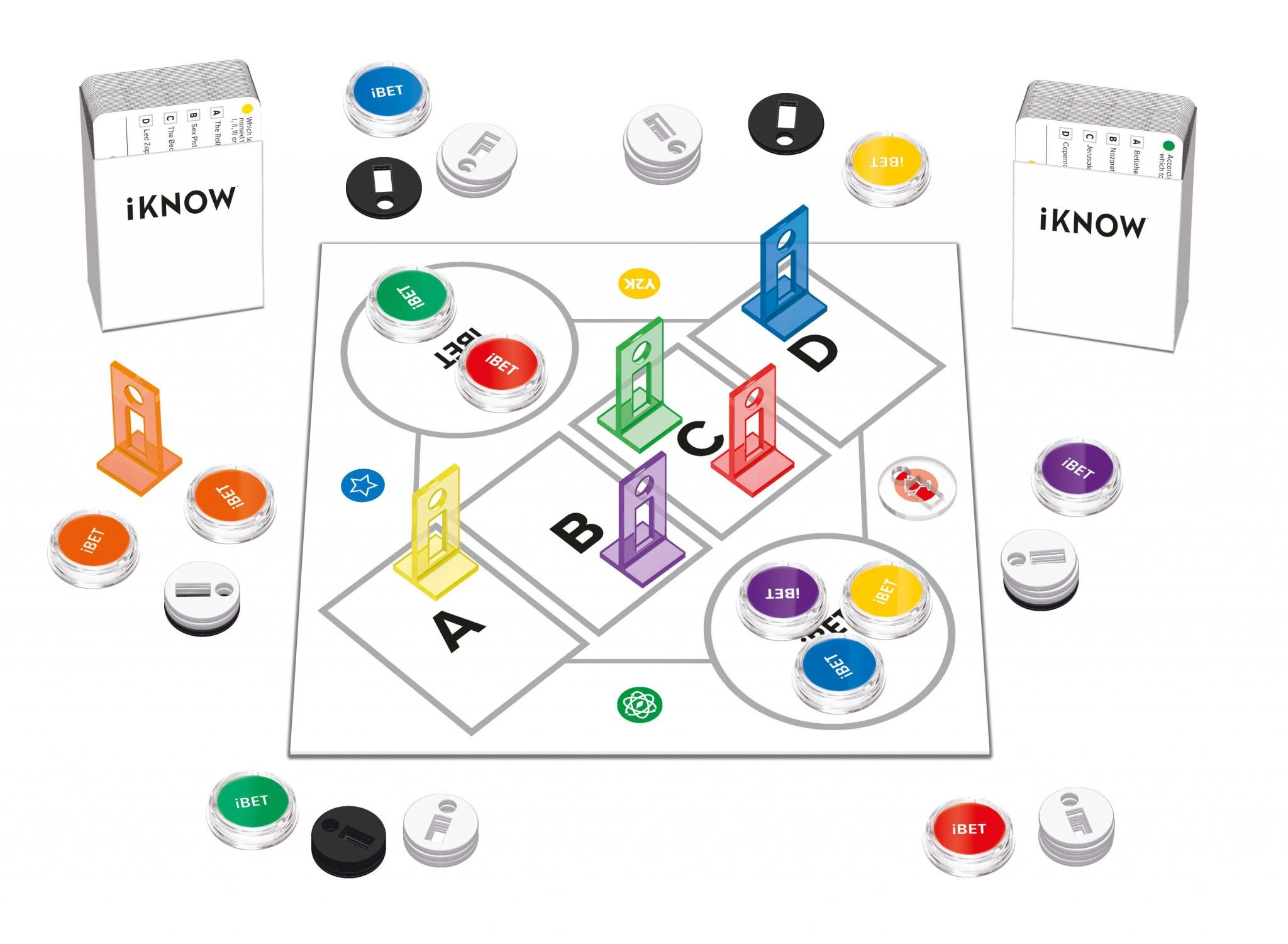 iKnow Family Quiz by Tactic Games box contents