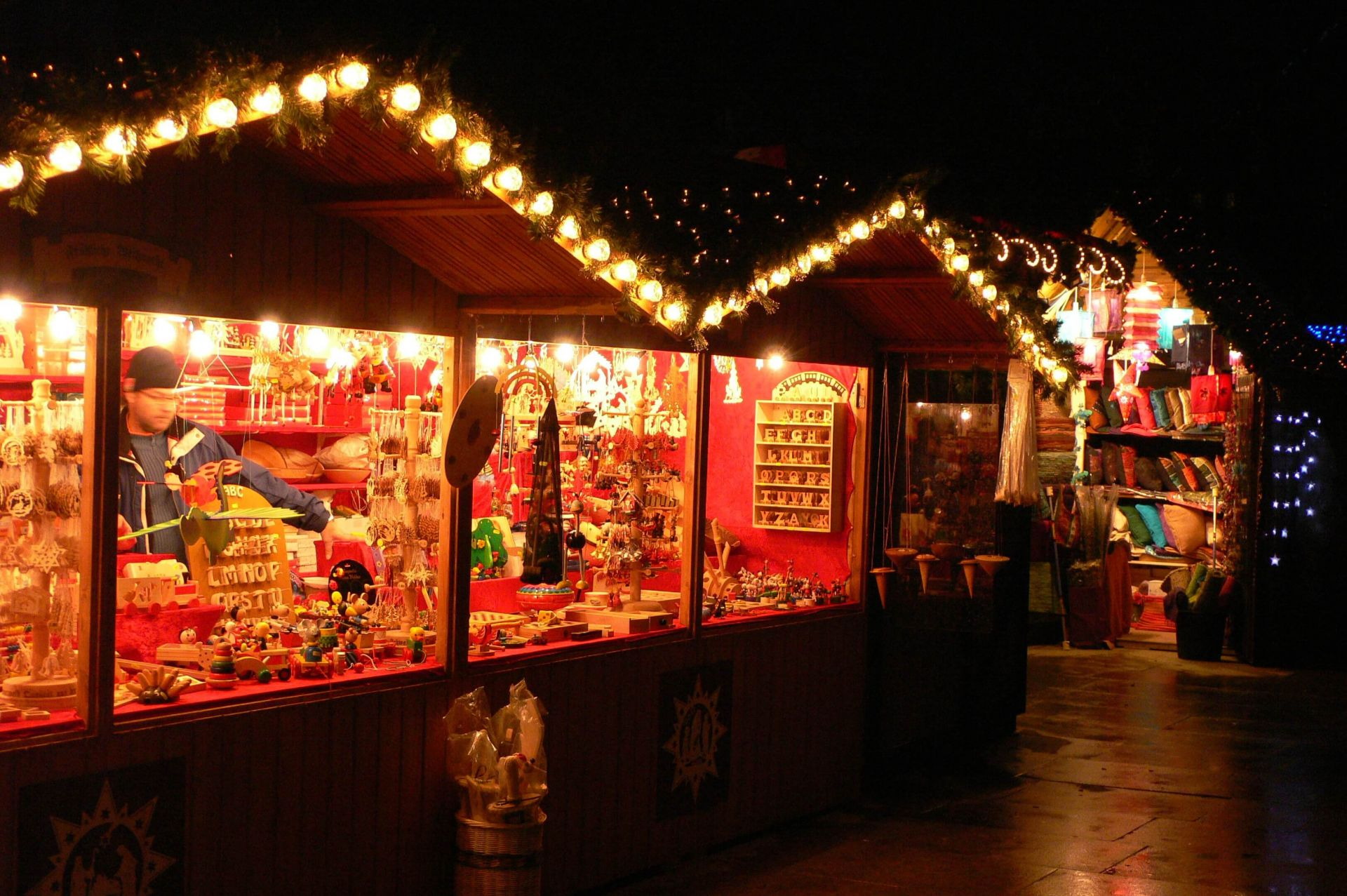 London Christmas Market At South Bank by Heather Cowper